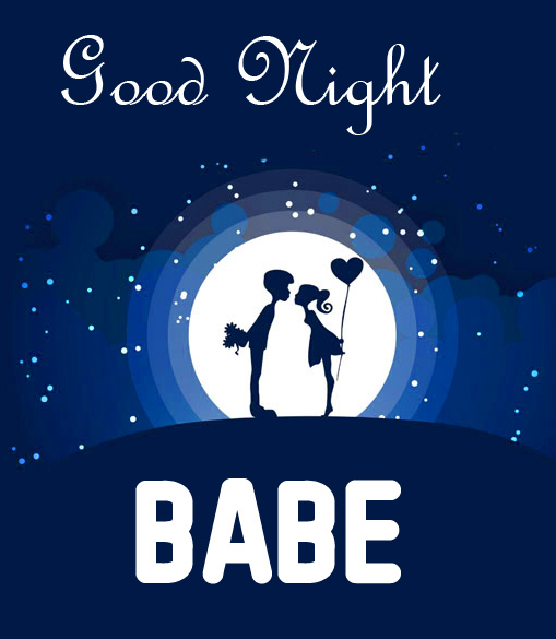 Animated Good Night Babe Couple Picture