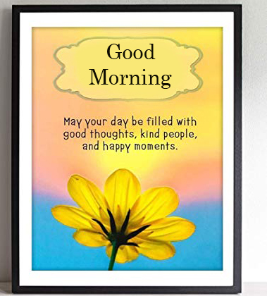Beautiful Flower with Blessing Good Morning Quote Image