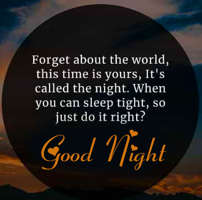 Beautiful and Latest Quote Good Night Image