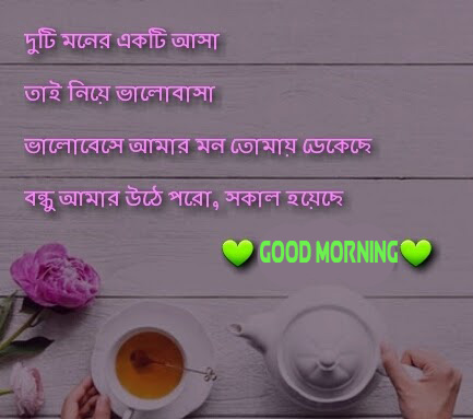 Breakfast Bengali Quote with Good Morning Wish