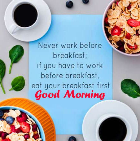 Breakfast Healthy Good Morning Quote Image