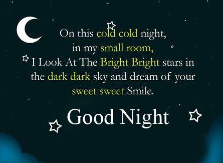 Cold Night Blessing Good Night Image