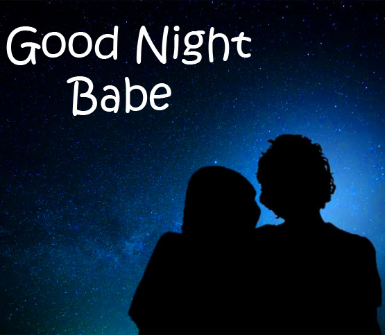 Couple in Night with Good Night Babe Message