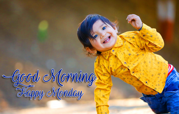 Cute Indian Boy Good Morning Happy Monday Picture