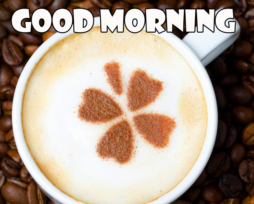Floral Coffee Good Morning Image