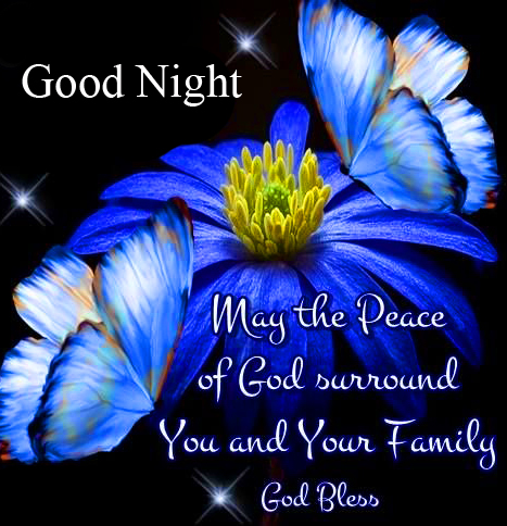 Flowers Blessing Quote Good Night Image
