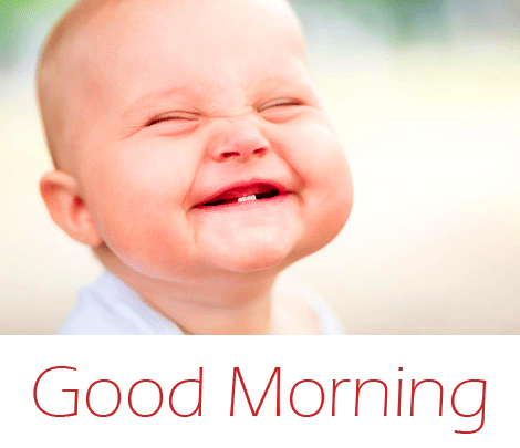 Funny Smiling Baby Good Morning Image