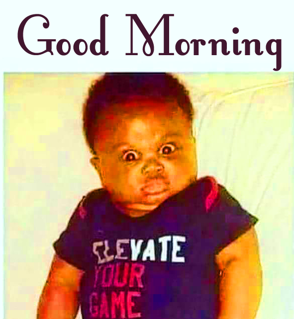 Funny Surprise Baby Face Good Morning Image
