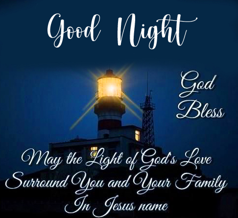 God Blessing Quote Good Night Image