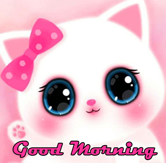 Good Morning Adorable Cat Animated Picture