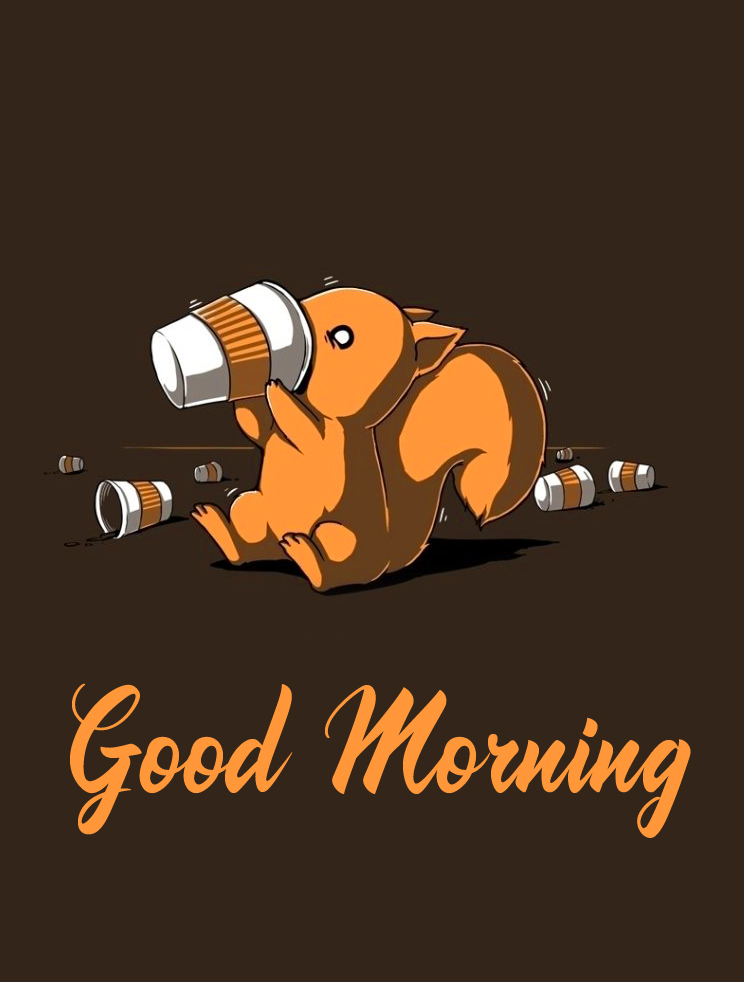 Good Morning Cartoon and Coffee Picture