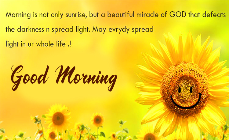 Good Morning Flower with Blessing Message