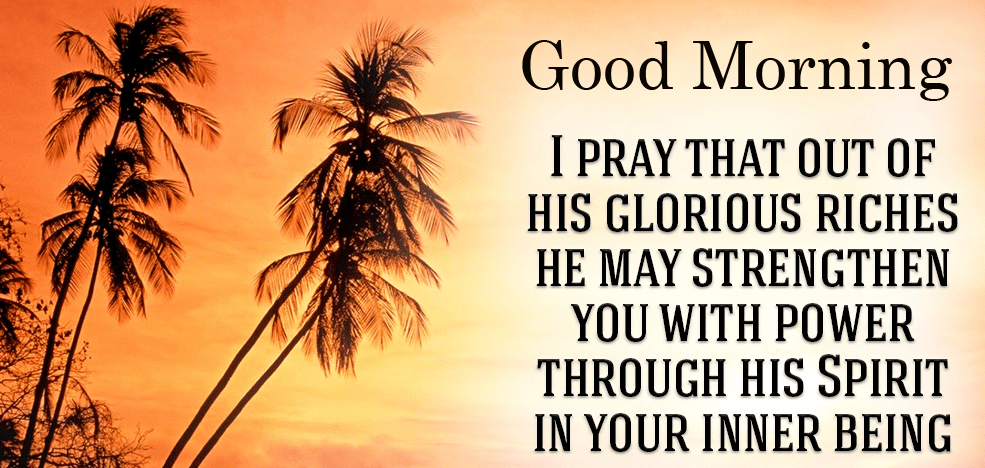 Good Morning Glorious Blessing Quote Image