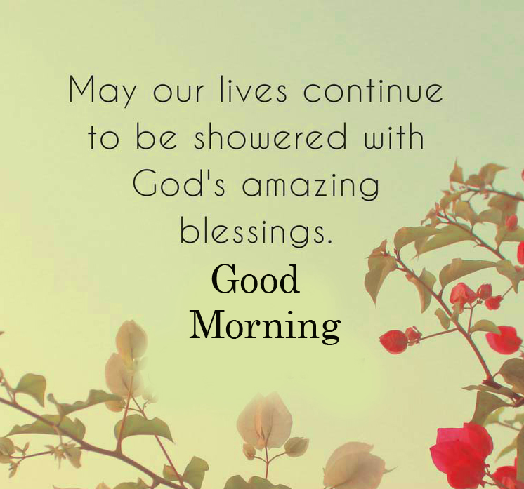 Good Morning God Blessing Quote Wallpaper