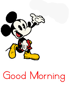 Good Morning Happy Mickey Mouse Image