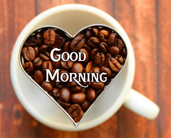 Good Morning Heart Coffee Beans Picture