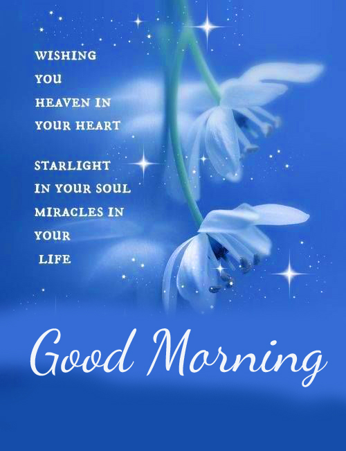 Good Morning Heaven Blessing Message Picture