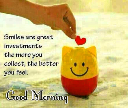 Good Morning Smiling Quote Picture