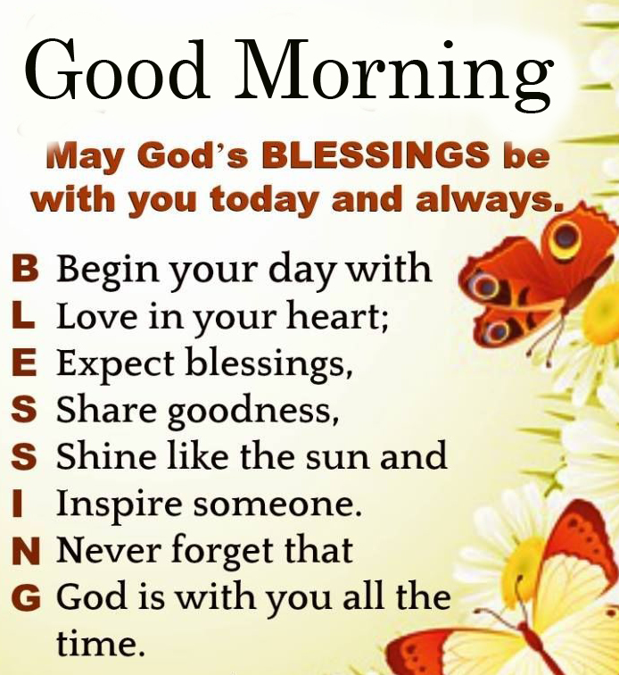 Good Morning Wish with Blessing Meaning