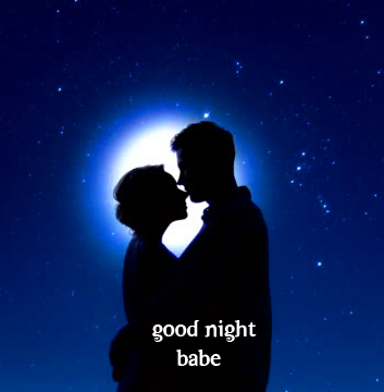 Good Night Babe Kissing Couple Picture