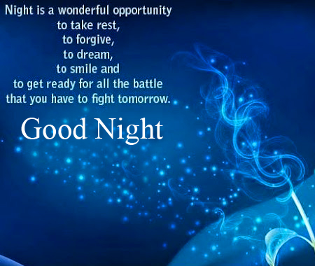 Good Night Blessing Message HD Image