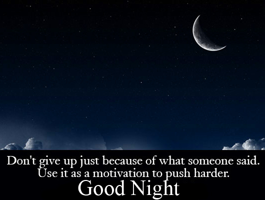 Good Night Blessing Message Image