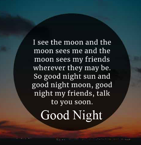 Good Night Blessing Quote HD Image and Pic