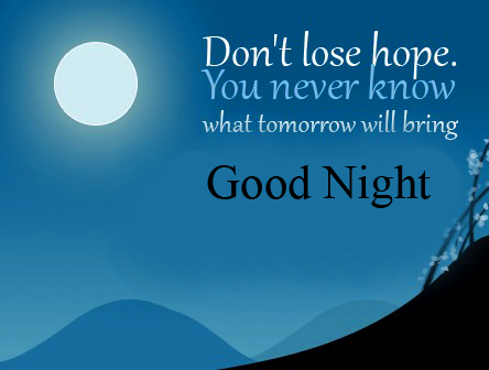 Good Night Blessing Quote Photo HD