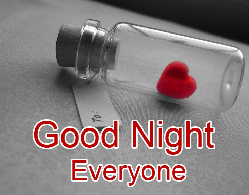 Good Night Everyone Heart HD Picture