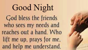 Good Night God Blessing Quote Picture HD