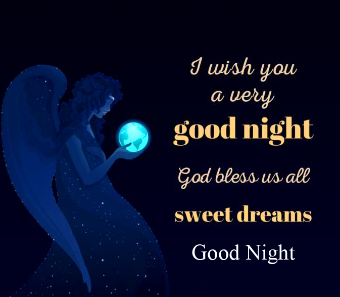 HD Blessing Quote Angel Good Night Image