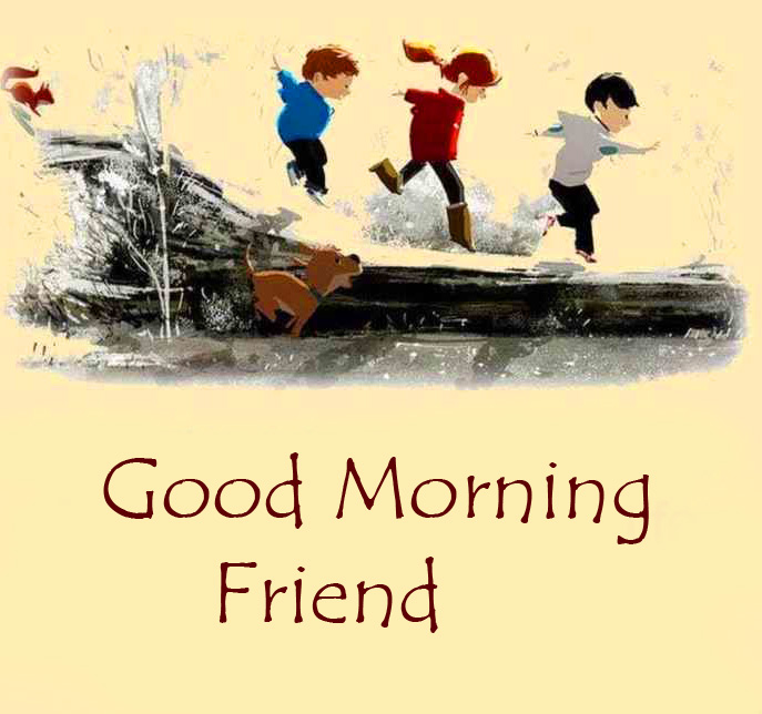 HD Childhood Good Morning Friend Picture