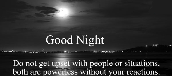 HD English Blessing Quote Good Night Image