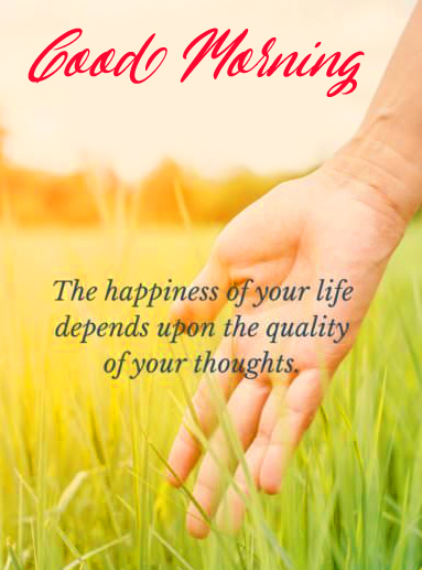 Happiness Beautiful Quote Good Morning Image