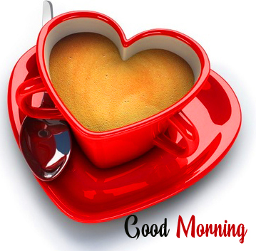 Heart Cup Good Morning Picture