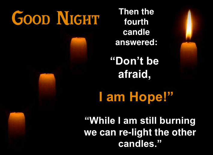 Hope and Love Quote Blessing Good Night Image