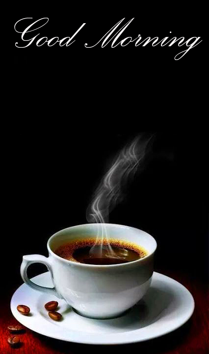 Hot Steaming Coffee Good Morning Image