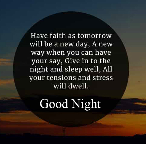 Inspirational Blessing Quote Good Night Image