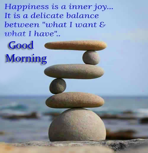 Joy and Happiness Quote Good Morning Image
