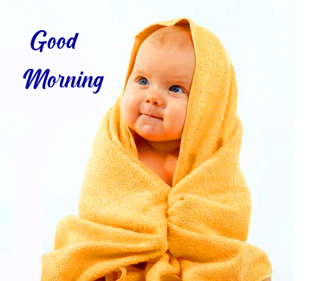 Latest Cute Baby Good Morning Image