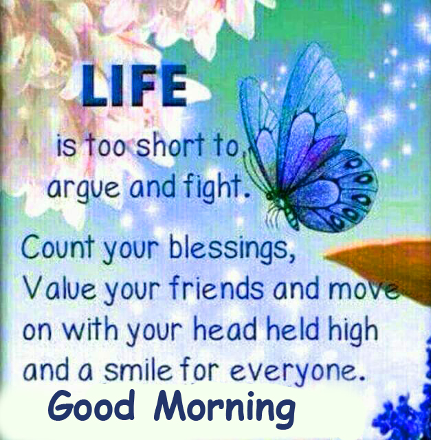 Life Blessing Quote Good Morning Wallpaper