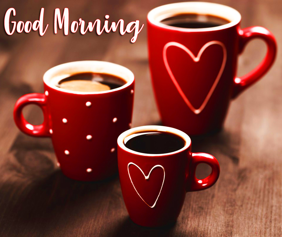 Love Coffee Cups Good Morning Picture