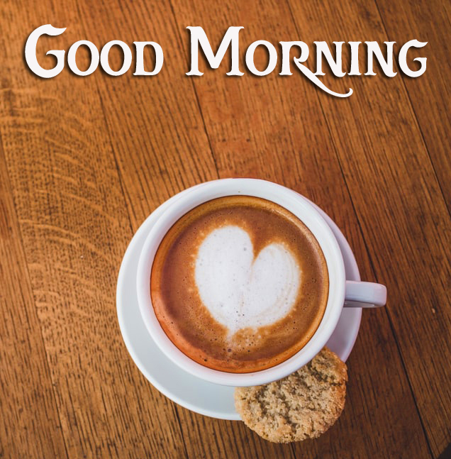 Love Coffee with Snack and Good Morning Wish
