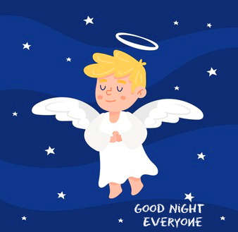 Lovely Angel Good Night Everyone Picture