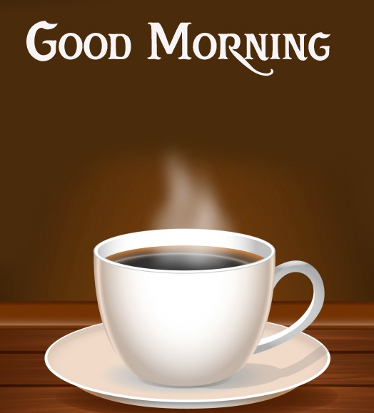 Lovely Coffee Cup Good Morning Wallpaper