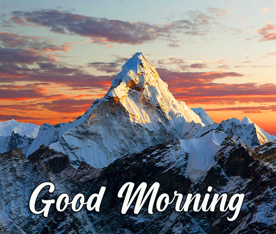 Lovely Mountains Good Morning Image