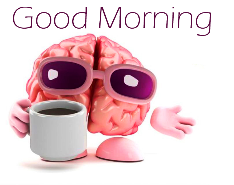 Lovely and Funny Brain Good Morning Image