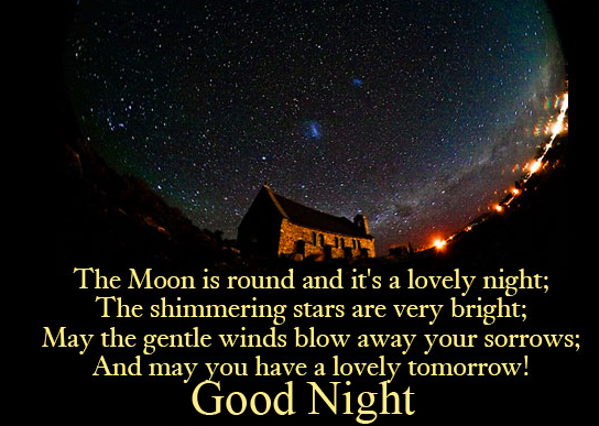 Lovely and Latest Blessing Quote Good Night Image