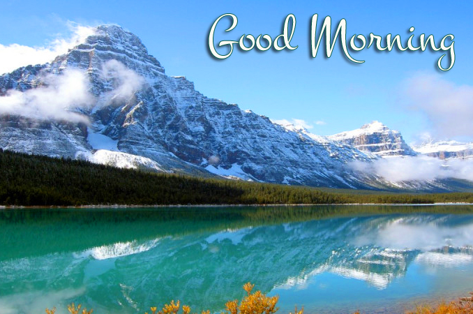 Lovely and Latest Good Morning Mountains Picture
