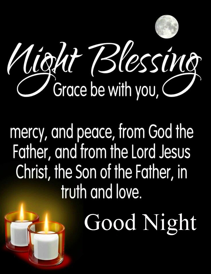 Mercy and Peace Blessing Quote Good Night Image
